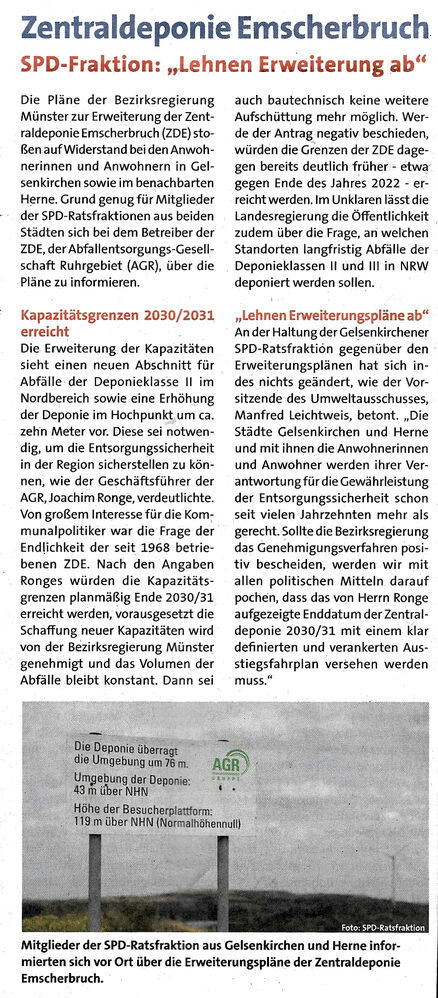 """SPD-Fraktion: """"Lehnen Erweiterung ab"""""""